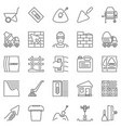 cement and concrete outline icons vector image