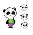 character panda vector image vector image