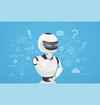 chat bot thinks virtual robot assistance vector image vector image
