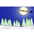 Christmas night in the winter forest vector image vector image