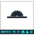 Circular saw blades icon flat vector image vector image