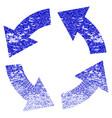 circulation grunge textured icon vector image vector image
