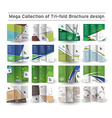 Corporate Business Tri-fold Brochure Design vector image vector image