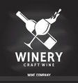 craft wine winery company badge sign or label vector image vector image