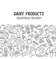 dairy product seamless border vector image vector image
