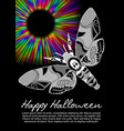 deaths head hawkmoth on halloween flyer on black vector image