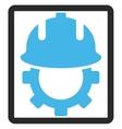 Development Helmet Framed Icon vector image