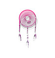 dream catcher sign detachable paper with vector image vector image