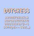 dutchess vintage 3d alphabet set vector image