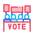 election icon outline vector image