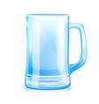 empty glass mug vector image vector image