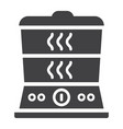 food steamer solid icon kitchen and appliance vector image vector image
