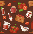 fresh background organic red tomato products vector image vector image