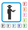 gentleman robber framed icon vector image vector image
