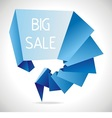 geometric sale design template vector image vector image