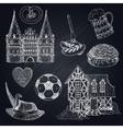 Germany Chalkboard Icon Set vector image vector image