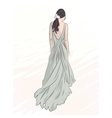 girl in evening long dress vector image vector image