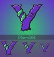Halloween decorative alphabet - Y letter vector image vector image