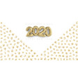 happy new year 2020 banner with golden sand and vector image vector image