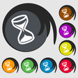 hourglass icon sign Symbol on eight colored vector image vector image