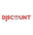 icon concept discount word with arrow down and vector image