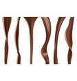 liquid chocolate stream flowing delicious sauce vector image vector image