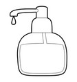 liquid soap icon outline vector image vector image
