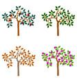 logo tree seasonal trees set icons vector image