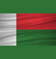 madagascar flag flag of madagascar blowig in the vector image