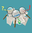 magnifying glass business and financial audit vector image