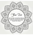 Mandala with text vector image