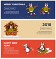 merry christmas and 2018 happy new year greeting vector image vector image