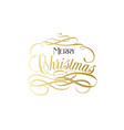 merry christmas hand lettering in gold merry vector image vector image