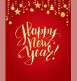 merry christmas hand written lettering golden vector image vector image