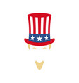 modern portrait of uncle sam american flag vector image