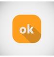 OK good character icon eps10 vector image