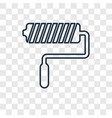 paint roller concept linear icon isolated on vector image
