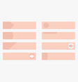 pale red web buttons with tags flat design vector image