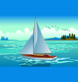 people sailing on the sea vector image vector image