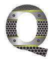 perforated metal letter Q vector image vector image