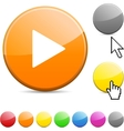 Play glossy button vector | Price: 1 Credit (USD $1)