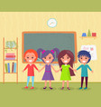 pupils in class back to school knowledge vector image vector image