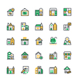 Real Estate Colored Icons 2 vector image vector image