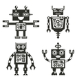 Robot icons Robots black signs vector image vector image