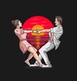 romantic couple love dance vector image vector image
