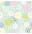 Seamless floral pattern with tile decoration roses vector image vector image