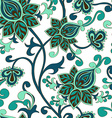 seamless pattern paisley floral ornament vector image