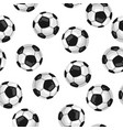 seamless pattern with soccer balls in flat style vector image
