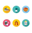 Set of sport icons in flat design with long vector image vector image