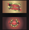 Set of two separated christmas banners vector image vector image